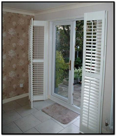 Patio Shutters Blinds by Shutter Blinds For Patio Doors Visitmydoor Net