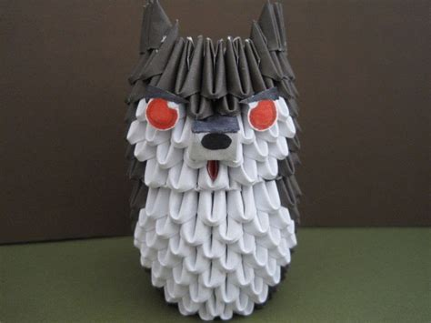 3d Origami Projects - 3 d origami husky puppy wolf 183 an origami 183 paper