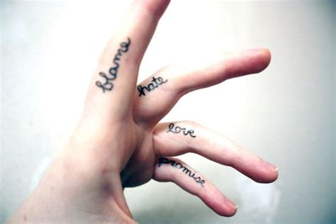 tattoo finger lettering 2015 best finger tattoos best tattoo 2015 designs and