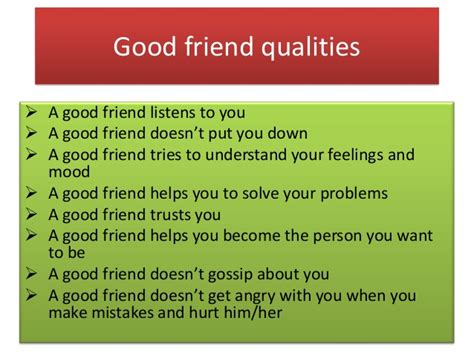Characteristics Of A Friend Essay by Being A Friend2