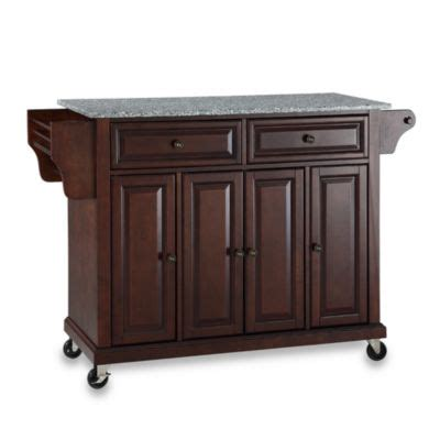 Kitchen Cart At Bed Bath And Beyond Crosley Rolling Kitchen Cart Island With Solid Granite