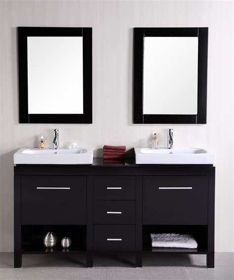 Bathroom Vanities With Shelves by 60 Inch Sink Bathroom Vanity With Open Shelves