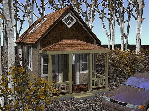 14x24 Builder's Cottage Home Plan