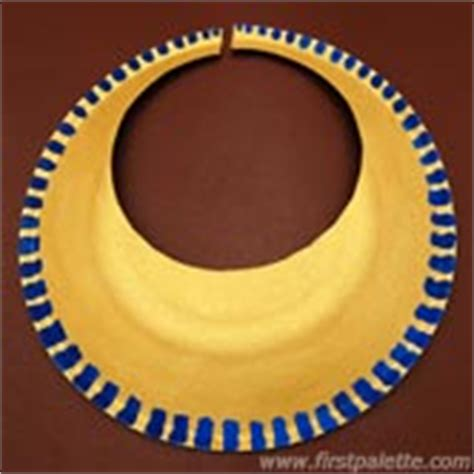 ancient egyptian collar or necklace craft kids crafts
