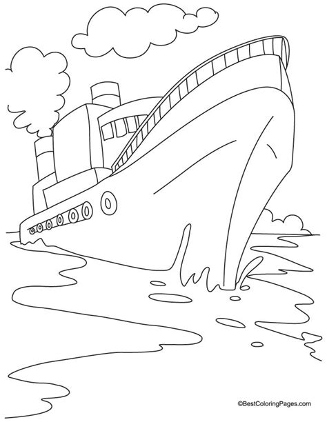 free coloring pages of shipwreck