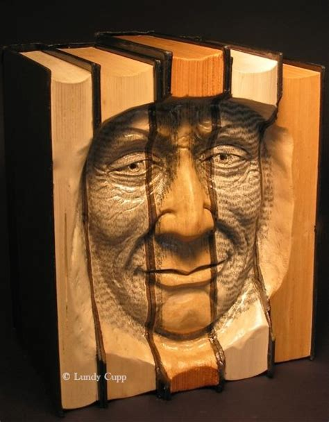 faces of books carved books woodcarving lundy cupp