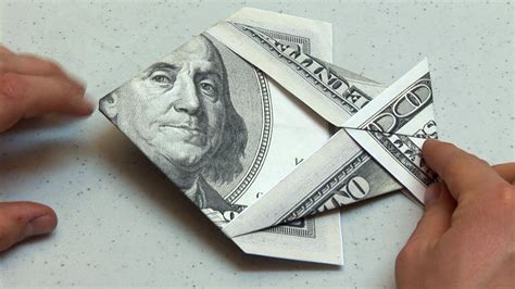 Origami Fish Dollar Bill - easy origami dollar bill money fish