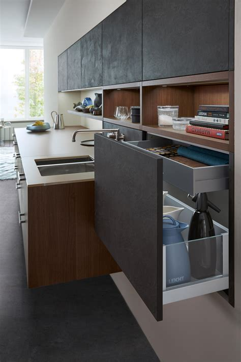 leicht küchen ag topos concrete fitted kitchens from leicht k 252 chen ag