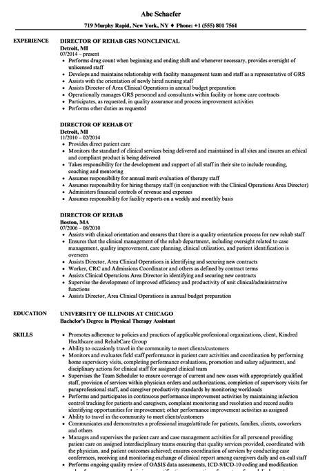 rehab resume rehab resume sles velvet