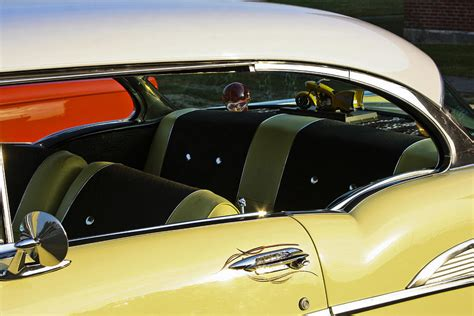 Chevy Home Decor by 1957 Chevy Bel Air Yellow Interior Photograph By Dennis Coates
