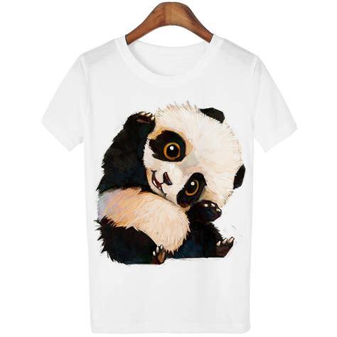 Panda Tshirt harajuku panda print t shirt tshirt 2016 summer style sleeve tops t shirt