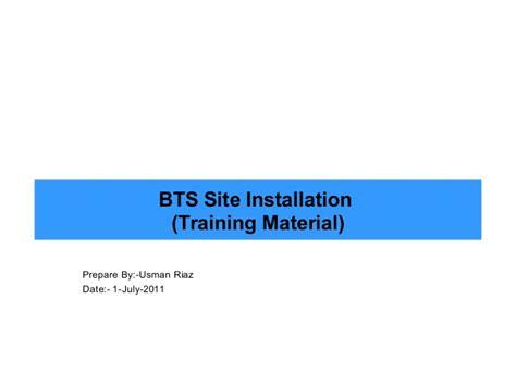 bts website bts site installation