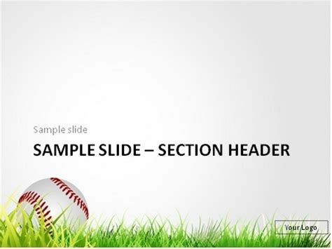 Download Free Baseball In The Grass Powerpoint Template Free Baseball Powerpoint Templates