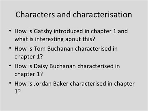 symbols in the great gatsby chapter 1 the great gatsby chapter 1