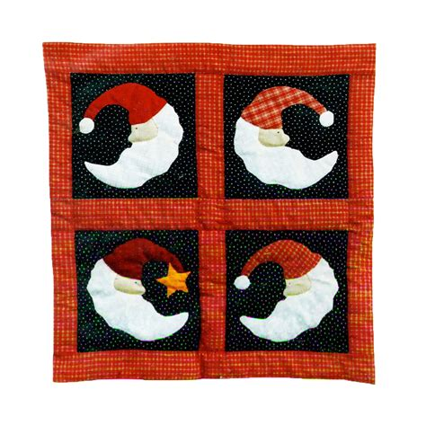 Quilt Patterns For Wall Hangings by Quilt Wall Hanging Pattern Santa In The Moon Quilt