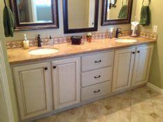 refinish bathroom vanity refinished cabinets on cabinets bathroom