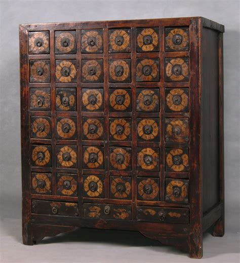 li9037 antique apothecary herb cabinet a photo