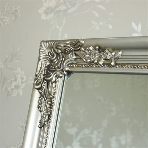 ornate silver floor standing mirror melody maison 174