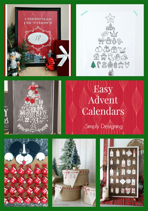 simple printable advent calendar advent calendars for christmas countdown