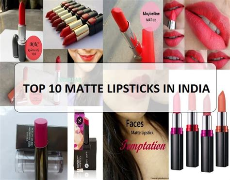 Best Lipstick Top 10 by 10 Best Matte Lipstick Brands And Range In India