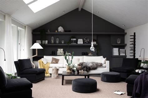 Living Room Decoration Une Photo Une D 233 Co Le Mur Noir Planete Deco A Homes World