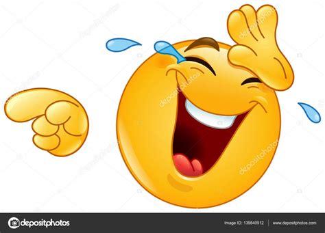 imagenes de emojis riendo ridendo con le lacrime e indicando emoticon vettoriali