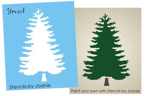 Buy Rustic Home Decor rustic tree stencil blue spruce mountain lodge cabin home