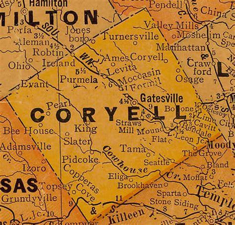 gatesville texas map coryell county texas