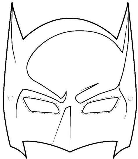free batman mask template let there be paint pinterest