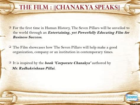 unveiled pillar 1 study guide books chanakya speaks the seven pillars of business success