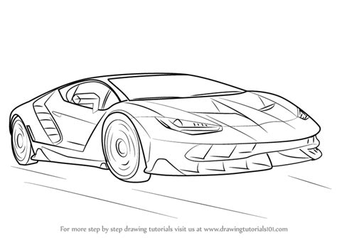 lamborghini car drawing learn how to draw lamborghini centenario sports cars