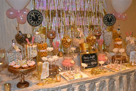 new year buffet ideas new years pink and gold buffet bars