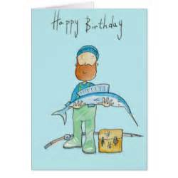 birthday for an angler cards zazzle