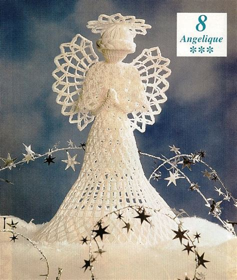 patterns for christmas tree toppers items similar to crochet heirloom angelique angel tree