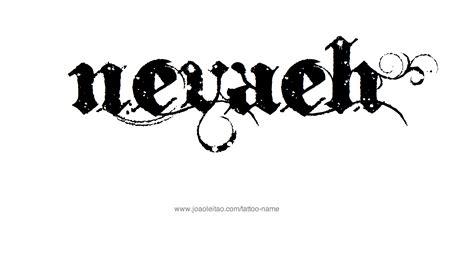 nevaeh name tattoo designs