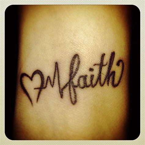 heartbeat tattoo with cross heart beat tattoo on wrist heart beat and faith tattoo