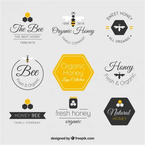house beautiful logo beautiful flat honey logos vector free