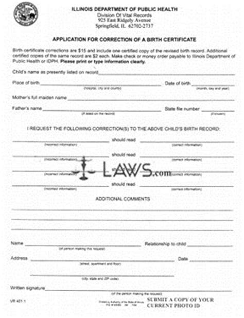 Application For Correction Of Date Of Birth In School Records Form Application For Correction Of A Birth Certificate