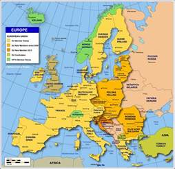 Countries In Europe Map by Political Map Of Europe Showing The European Countries