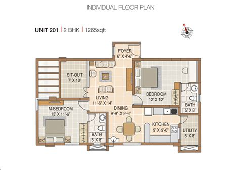 2 bhk flat plan per vastu 2 bhk house plans in india
