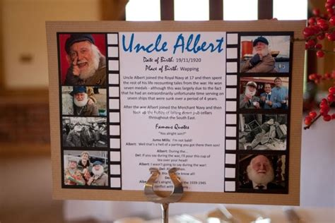 only fools and horses table sign from inviting events lovely stationery