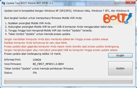 Resmi Modem Bolt cara update firmware modem mwifi bolt