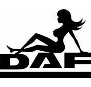DAF Trucks Mudflap Girl HGV Truck Sticker Decals For Glass