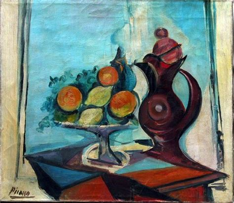 pablo picasso nature paintings pablo picasso still with pitcher 1937