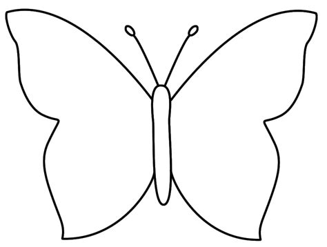 Large Butterfly Template Printable butterfly outline template cliparts co