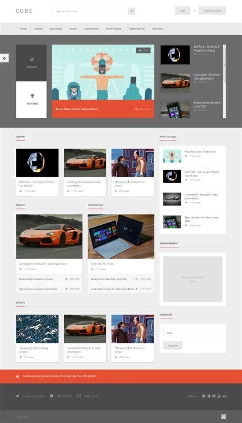 themeforest publisher themeforest cube v1 8 front end multimedia publishing wp