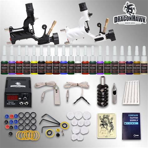 beginner tattoo kit 2 machines 20 ink sets power supply