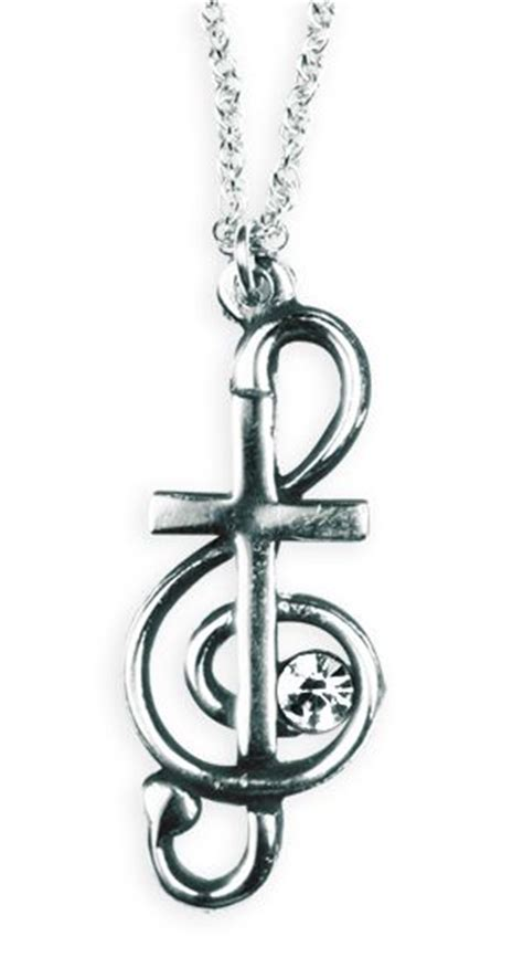 cross and music note tattoo cross treble clef necklace jewelry