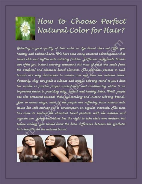 how to select the perfect color how colors can affect how to choose perfect natural color for hair