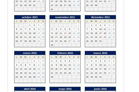 Calendario Fiscal 2015 Calendario Ano Fiscal 2015 2016 Calendario 2015 2016 En